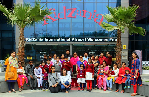 KidZania Tour for Kids with disabilities:The excited group of kids from Amar Jyoti Charitable Trust arrive at Kidzania all set to start the tour.
