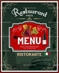 Vintage italian restaurant menu and poster design (葉育婷) Tags: poster chef retro flyer food special vector eat italian cafe label fency menu ribbon advertisement decoration italy advertise business concept sign template restaurant calligraphic graphic decor typography card traditional best abstract emblem europe illustration pasta bottle decorative oldfashioned lunch rome typographic vine design text wine vintage style background grapes zzzalfaaahejhegbgmgjgbgo