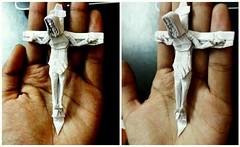 ORIGAMI - Jesus ( Crucifixion ) Mini :) (Neelesh K) Tags: happy easter jesus christ crucifix crucifixion origami neeleshkpapetfoldingtracingpaper neeleshk paperfolding