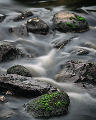 Long exposure (lindblomlinus) Tags: water green stone stones fall autumn longexposure longexpo analog analogefex samyang pentax slowshutter blur sweden sverige