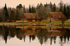 Reflections: Ash Trail Lodge (Marianna Gabrielyan) Tags: ash river lodge image reflection mirror cabin minnesota water trail