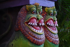 Ganesha temple gateway guardians (Celeste33) Tags: pondicherry ganeshatemple guards hindu teeth smile