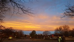 March 30, 2017 - A gorgeous sunrise as seen from Lafayette. (David Canfield)