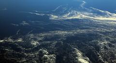 2017_04_10_lhr-ewr_022 (dsearls) Tags: 20170410 aerial windowseat windowshot united unitedairlines ual ua17 lhrewr ocean blue white ice icebergs patterns aviation flying longhaul flight north newfoundland grandbanks