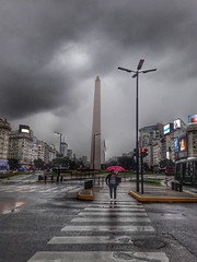 El obelisco Buenos Aires (Fally Killradio) Tags: sky cielo clouds nubes skycollection cloudscollection skyporn cloudporn landscape cloudscape nature naturaleza city view rain lluvia storm tormenta scenery lovely amazing buenosaires argentina obelisco byw lateafternoon atardecer photo photography urban new day paisaje natur natural flickr cloudy camera texture colours cityscape perspective