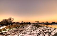 Alien Circles. (Alex-de-Haas) Tags: 1635mm d750 dutch hdr holland nederland nederlands netherlands nikkor nikkor1635mm nikon nikond750 noordholland noordhollandschkanaal thenetherlands westfriesland belichting canal cloudless daglicht daylight handheld hemel highdynamicrange kanaal landscape landscapephotography landschap landschapsfotografie licht light lighting lucht onbewolkt skies sky sneeuw snow sundown sunset unclouded water winter zonsondergang