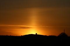 Sun pillar over Billinge Hill, St Helens, Merseyside (ianbonnell) Tags: sunpillar lightpillar weatherphenomenon weather sunset billinge sthelens wigan lancashire merseyside landscape