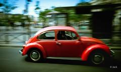 the street (Jack_from_Paris) Tags: r0000344 ricoh gr apsc capture nx2 lr couleurs colors street paris vw coccinelle auto car automobile automotive mobile painting peinture grain texture panning red rouge