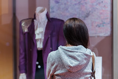 Prince's jacket worn in Purple Rain on display at the Minnesota Historical Society (Lorie Shaull) Tags: prince princerodgersnelson minnesotahistoricalsociety stpaul purplerain ruffled shirt purple
