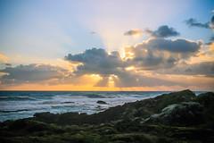 (saltpetres) Tags: ocean sea cloud sun beach clouds landscape rocks waves fingers australia victoria shelly sunburst rays buddah sunbeam breaks sunbeams crepuscular warrnambool