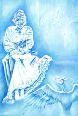 Pelican (Sergei U. Rukavishnikov) Tags: pencil paper drawing surrealism surreal coloured