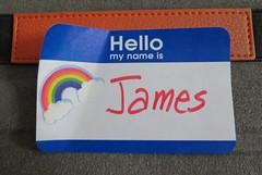 October 16, 2014 (3) (gaymay) Tags: california gay love happy rainbow desert name tag palmsprings nametag triad