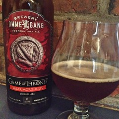 "This is a nice way to while away a Saturday afternoon! @breweryommegang Game of Thrones Valar Morghulis Dubbel Ale is full to the brim with the flavors of caramel and malt and fantastically delicious.   #craftbeer #beer #gameofthrones • <a style=""font-size:0.8em;"" href=""https://www.flickr.com/photos/54958436@N05/14945143214/"" target=""_blank"">View on Flickr</a>"