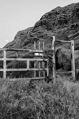 DSC_0187 (JBMarro) Tags: bw moon white mountain black night speed fence island hawaii nikon gate long exposure oahu shutter hawaiian mountainside landsacpe d5100