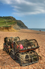 Crab pots at Seatown, Dorset (Baz Richardson (trying to catch up)) Tags: coast cliffs dorset beaches seatown crabpots