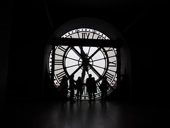 Tick Tock (Grant Shepherd Photography) Tags: travel winter light shadow people black paris france clock museum cool europe day shadows olympus tourist musee explore tick tock attraction dorsay omd 500px ifttt