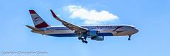 Austrian Airlines Boeing 767-300 landing (Doctor Christopher) Tags: boeing767 austrianairlines chicagoohareinternationalairport boeing767300