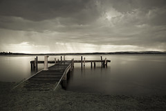 Squid's Ink Jetty (Amanda Ayre) Tags: lake storm cloudy jetty lakemacquarie squidsink amandaayre