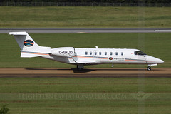 Skyservice Air Ambulance Learjet 45 C-GEJD (Flightline Aviation Media) Tags: airplane airport jan aircraft aviation jet jackson 45 ambulance business stockphoto learjet bizjet skyservice canon50d kjan bruceleibowitz cgejd 2490372