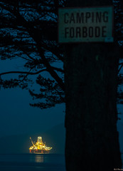 Transocean Barents Camping forbidden (Deon Lie) Tags: industry norway night shot offshore rig oil floater plattform barents transocean