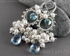 Melite - Bridal earrings Aquamarine Sky Blue Topaz white Pearls earrings in sterling silver. Handmade wedding jewelry by Arctida (Arctida) Tags: birthday christmas new city blue autumn winter wedding party summer sky white holiday color cute art fall love geometric beautiful fashion century canon vintage silver fun bride drops spring amazing nice artwork europe soft pretty sweet sweden stockholm handmade turquoise teal ooak pastel gorgeous awesome cluster great formal aquamarine style jewelry tribal romance pearls pale jewellery handcrafted accessories sterling earrings lovely bridal something mid artisan scandinavian topaz gemstone neutrals argentium arctida