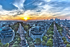 Sunset In Paris (tominio84) Tags: sunset sky paris france nikon champs elysees hdr