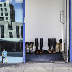 Doorway (The Image Den) Tags: square doorway southampton wellies workboots