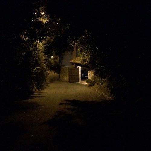 Llegando a la casina rural