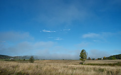 The Fog is Lifting (peter_hasselbom) Tags: autumn sky sun fall field landscape 28mm hd halland kungster 3exposurehdr