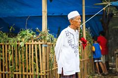 38 (Garry Andrew Lotulung) Tags: street portrait bw monochrome canon children indonesia cow blackwhite child muslim islam religion goat oldman human kambing adha humaninterest sapi tangerang idul eidmubarak iduladha canon7d
