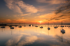Tranquil Langstone Harbour (Explore 5-10-2014) (Sunset Snapper) Tags: uk sunset seascape clouds reflections nikon haylingisland peaceful hampshire september filter lee nd grad southcoast tranquil d800 2014 2470mm langstoneharbour sunsetsnapper tranquillangstoneharbour