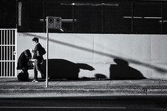 Take a bow (. Jianwei .) Tags: street shadow urban vancouver candid timing nex kemily
