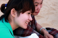 Smiling on Yantai beach (BenValjean) Tags: china travel summer portrait woman cute sexy girl beautiful beauty smile face smiling lady portraits canon pose asian person eos nice eyes asia pretty sweet outdoor feminine gorgeous echo chinese adorable naturallight babe cutie lips 中国 lovely charming oriental dslr orient cuties delightful 人 girlnextdoor 夏天 500d yantai 中国人 亚洲 烟台 山东 eos500d 山东烟台 benjamingoodacre goodacrephotography bengoodacre