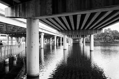 Better view of I35 (-Dons) Tags: bridge usa water austin river texas unitedstates tx townlake i35 ladybirdlake