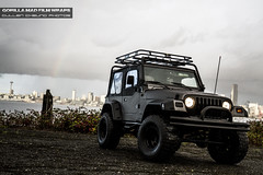 Gorilla Mad FW Jeep (CullenCheung) Tags: jeep offroad 4x4 lifted vinylwrapped gorillamadfilmwraps