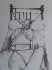 Bound ghost  -  mcourteau (michelle@c) Tags: paris paper drawing dessin vinci papier école camondo blackpencil crayonnoir 19801985 michellecourteau boundghost