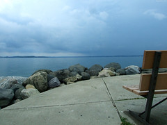 "View of Lake Mendota from Bench • <a style=""font-size:0.8em;"" href=""http://www.flickr.com/photos/34843984@N07/15353820158/"" target=""_blank"">View on Flickr</a>"
