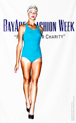 Blue Swimsuit Pinup Style (Tex Texin) Tags: blue fashion design sunnyvale model teal goggles tan style heels awards finale hautecouture fashionshow onepiece swimsuit pinup swimcap artinstituteofcalifornia bafw kiferrd bayareafashionweek
