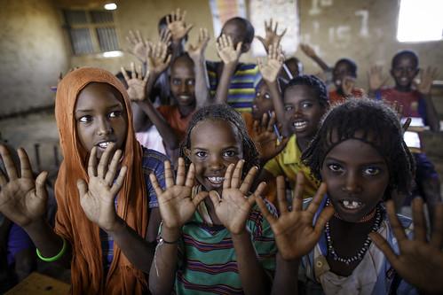 Pupils at Alula ABEC (Alternative Basic Education Center)
