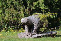 A different bear (Jenny Thynne) Tags: bear canada carving vancouverisland zeballos