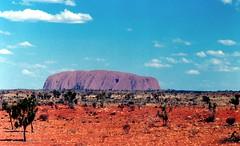 Uluru Ayers Rock Australia 1987 (jcbkk1956) Tags: red film rock 35mm desert pentax australia outback uluru manual ayersrock