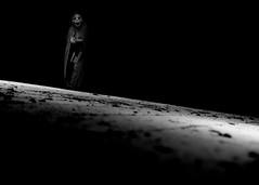 Are you awake? (Matt West) Tags: light blackandwhite halloween dark death shadows floor mask stage ghost dream spooky dirt horror nightmare