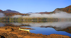 Autumn at Indian Lake (Matt Champlin) Tags: life travel camping autumn mountains fall nature beautiful fog canon outdoors colorful peace peaceful adirondacks calm adventure foliage boating canoeing tranquil indianlake adk 2014