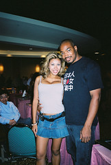 Leilene Ondrade 1 (dujuan2) Tags: chicago 2004 asian model convention denim cleavage photoop miniskirt 34 jlist glamourcon leilene leileneondrade ondrade glamourcon34
