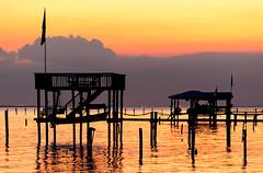 093014-Coden-Beach-sunset (CarmenSisson) Tags: sunset beach water landscape bay pier alabama wharf gulfcoast coden mobilecounty portersvillebay codenbeach