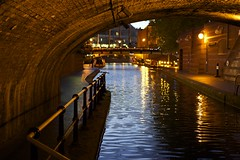 water night lights canal birmingham tunnel
