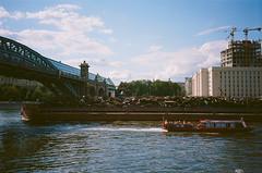 Saturday with scrap metal on Moscow river (airiraair) Tags: park metal scrap gorky 2014 парк мост андреевский горького москварека металлолом