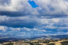 Cattivo tempo (mimmotamburro) Tags: sky panorama canon landscape nuvole grigio blu azzurro periferia 600d
