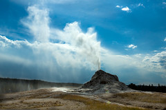 White Dome Geyser (SaunTek) Tags: park nature natural national dome yellowstone geyser geothermal