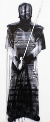 URBAN SAMURAI - TUNNEL, 2014, 200cm x 82cm, spray can & acrylic on mdf.